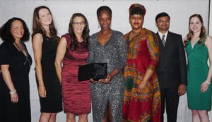 Carmen Maynes, Claire Jamieson, Winner of the Black Business Man Award Natasha Johnson-Richardson, Josephine Taylor