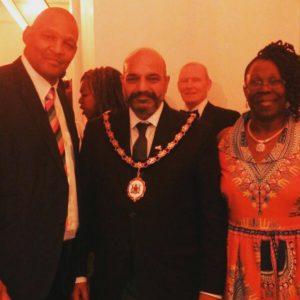 Dr D Hansel, Lord Mayor Mohammed Saghir & Councillor Merlita Bryan