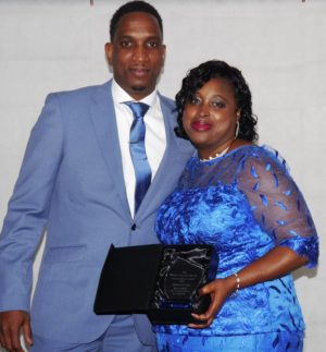 Female Winner of the Young Achievers Award on the right - Sidione Mcleod & Ricardo Mcleod