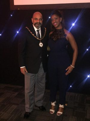 Lord Mayor of Nottingham Mohammed Saghir & Melody Mothobi